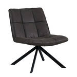 Eleonora fauteuil delta polyester antraciet 77 x 67 x 78