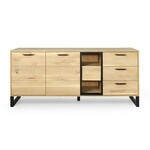 Dressoir MADRAS 3 deuren 4 lades dark forest