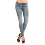 Salutoni Omafiets dames Jeans look - 28 inch - blauw