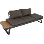 Wicker loungebank Soho Brick rond