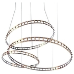 Quasar - Cosmos Square Double LED hanglamp Nikkel
