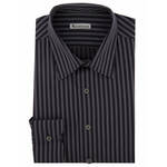 Profuomo Heren Overhemd Sky Blue Royal Blauw Jacquard Slim Fit