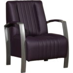 J-Line Fauteuil Frame Paars 65x72x77,5