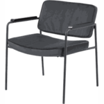 Zuiver BUBBA retro lounge fauteuil donkergrijs