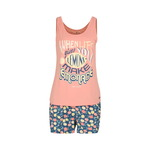 Roze dames shortama