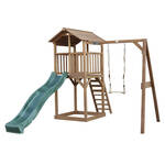Jungle Gym | Hut + Playhouse 125 | DeLuxe | Donkergroen