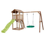Jungle Gym | Hut + Playhouse 125 | DeLuxe | Lichtgroen