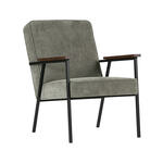HALIFAX FAUTEUIL IN RIBSTOF ANTRACIET