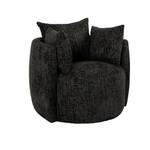 Fauteuil Crown in zwart